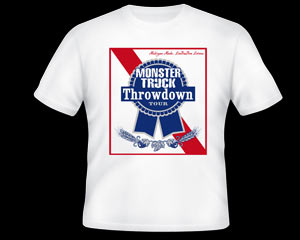 Monster Truck Throwdown Blue Ribbon Shirt