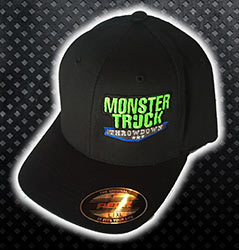Black Monster Truck Throwdown Fitted Hat